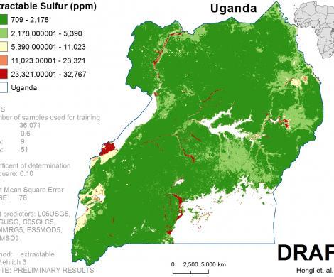 Uganda - extractable Sulphur