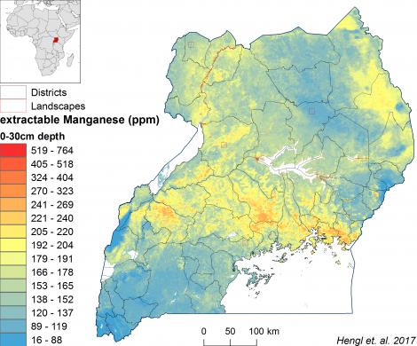 Uganda - extractable Manganese