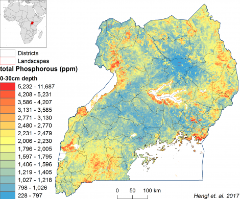 Uganda - total Phosphorus