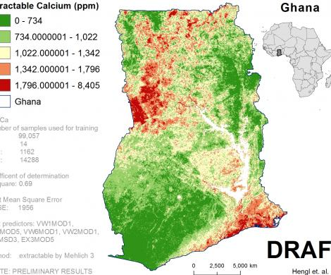 Ghana - extractable Calcium