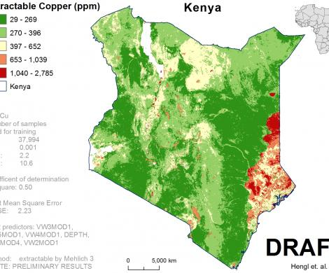Kenya - extractable Copper