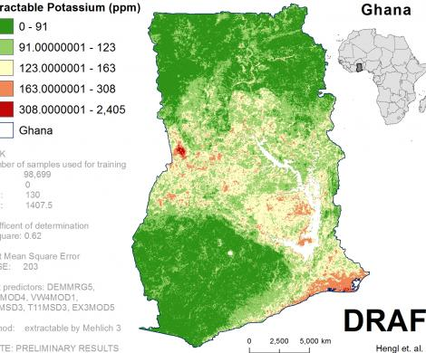 Ghana - extractable Potassium