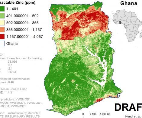 Ghana - extractable Zinc